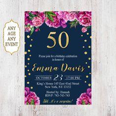 50th birthday invitations, 50th birthday invitations for women 072