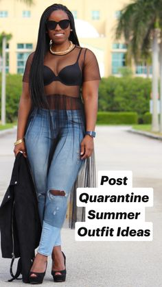 Weekend wear - sheer dress curves and confidence - outfits Summer Outfits Women, Sexy Outfits, Chic Outfits, Trendy Outfits, Girl Outfits, Fashion Outfits, Black Girl Fashion, Curvy Fashion, Look Fashion