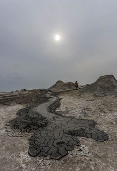 Mud volcano - Dashgil mud volcano (Azerbaijan), by Emil Qazi.... #sky #landscape #mountains #nature #volcano #sun #hills #Alat #Azerbaijan