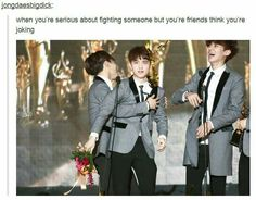 I know that feeling! Chen? Or Lay? Chanyeol Kyungsoo