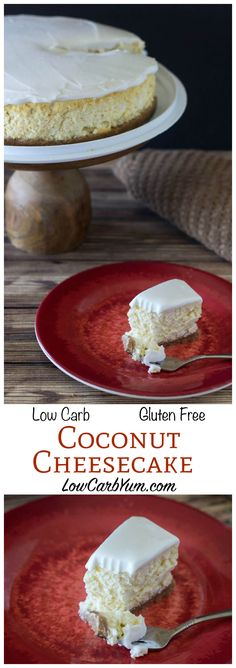Cheesecakes are one of the most popular low carb high fat desserts. We love this LCHF keto gluten free coconut cream cheesecake.
