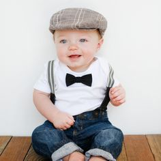 Black Tie Bow Tie for Baby. >> This little boy is so cute!!