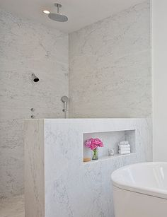 Nook in wall by toilet above tp holder for extra tp, decorations, etc.?