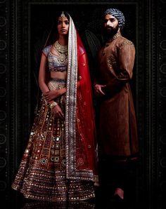 JJ Valaya's The Ranas of Kachchh 2016 Collection Churidar, Anarkali, Lehenga, Indian Bridal Wear, Indian Wear, Indian Designer Outfits, Indian Outfits, Bridesmaid Dresses 2017, Couple Wedding Dress