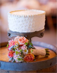 French Dot Wedding Cake - Glitter, Inc.