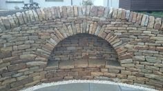 Dry stone recessed arch and retaining wall Stone Bench, Sloped Garden, Dry Stone, Stone Walls, Retaining Walls, Stone Work, Sitting Area, Ponds, Jeep Wrangler