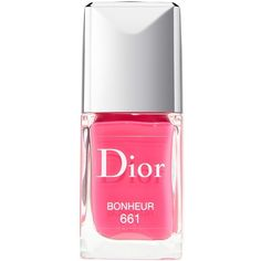 Dior 'Vernis' Gel Shine & Long Wear Nail Lacquer ($25) ❤ liked on Polyvore featuring beauty products, nail care, nail polish, nails, christian dior, glossy nail polish, gel nail polish, shiny nail polish and gel nail color