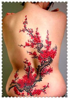 Cherry Blossom Tattoos And Meanings-Cherry Blossom Tattoo Designs And Ideas Tree Tattoo Designs, Tattoo Designs And Meanings, Tattoo Designs For Women, Tattoo Meanings, Tattoo Life, Tattoo Motive, Wrist Tattoo, Japanese Tattoo Art, Japanese Tattoo Designs