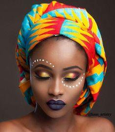 Oh Africa! — Ghanaian🇬🇭🇬🇭👑🌍 Ig me4evame Kente odo African Tribal Makeup, African Beauty, African Fashion, Black Girl Art, Black Women Art, African Face Paint, Tribal Face Paints, African Head Wraps, Afro Art