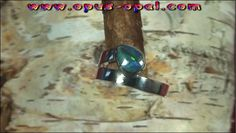 Sterling Silberring mit GEM Black Crystal Opal 0,61 ct