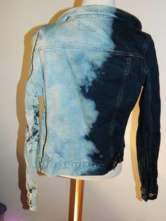 DIY: Tie-Dye Bleached Denim Jacket