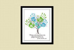 Printable Mother's Day / Father's Day Poster - CHILD'S HANDPRINT TREE. $10.00, via Etsy.