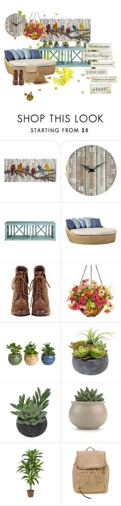 """""""Garden Home"""" by lilann2721 ❤ liked on Polyvore featuring interior, interiors, interior design, home, home decor, interior decorating, Home Decorators Collection, Sterling, Sunset West and National Tree Company  Love it! checkout www.sweetpeadeals.com for home decor up to 80% OFF!"""
