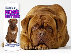 NEW LABEL - Dogue de Bordeaux Nose Butter for Dry or Crusty French Mastiff Noses by TheBlissfulDog, $6.50