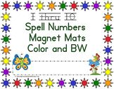 This set come in color and Black and White.  Print out color set and laminate, this will help you files to last longer. Black and White set for kids to color and take home.  Have kids spell the number with letter Magnets.  Number 1 thru 10