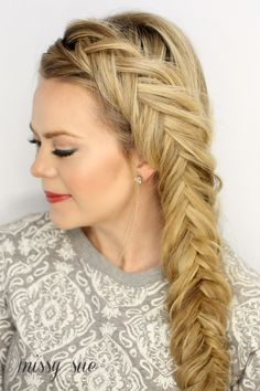 How-to Dutch Fishtail French Braid. Love this. #T3Micro