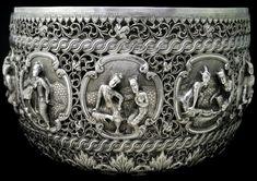 Moulmein Burmese Silver Bowl