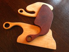 Not only are cutting boards used when one needs to chop up some fruit or veggies, but they can be put on display to add a bit of character and style to the kitchen itself. These essential cooking tools are made from Canadian maple and Jatoba – pieces of wood leftover from other projects.