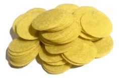 "1"" yellow felt circles / 25-50 pieces"