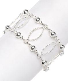 Love this Sterling Silver Ladder Bracelet by Sevil 925 on #zulily! #zulilyfinds