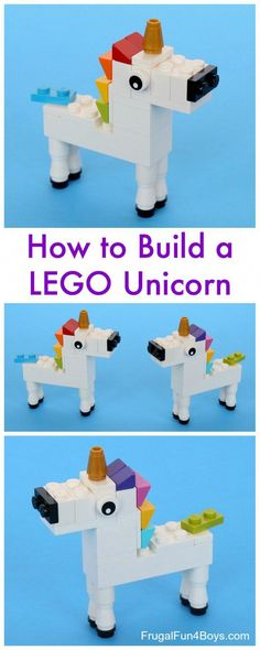LEGO Unicorn Building Instructions – Frugal Fun For Boys and Girls #craftsforkids