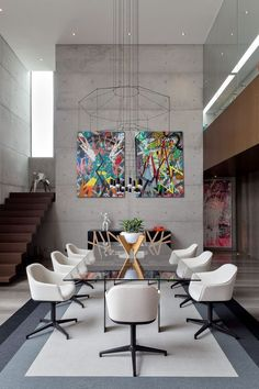 34 Inspiring Modern Dining Room Decor And Design Ideas - The decor of a house is a profoundly close to home thing. One well known type of decor . Design Living Room, Dining Room Design, Dining Room Furniture, Living Room Decor, Modern Dining Room Chairs, Dining Rooms, Dining Sets, Design Kitchen, Dining Tables