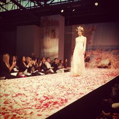 Barefoot on rose petals @clairepettibone #bridalmarket #boho #weddingdress