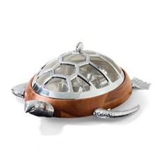 Ocean Luxe Turtle Chip and Dip Server with Mesh Dome