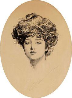 "Charles Dana Gibson (1867-1944) ""The Gibson Girl"""