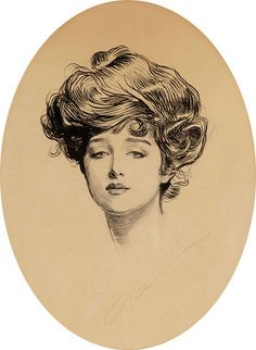 ༺ Gibson Girls ༻  Illustrations from the Belle Époque - Charles Dana Gibson