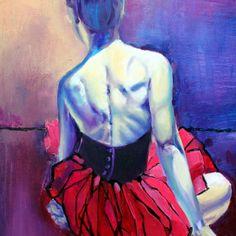 Beautiful figurative oil painting by Lena Navarro