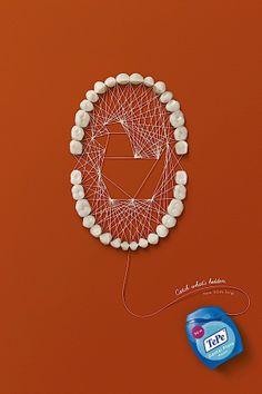 Kunstvolle Werbung für Zahnseide | KlonBlog