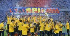 UPDATE FOTO Şampanie şi confetti pentru noua campioană a României! Steaua a primit trofeul pentru titlul 24 :: GSP.RO