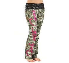 For the hunting moms...Girls with Guns (GWG) Women's Script Camo Lounge Pant | Scheels