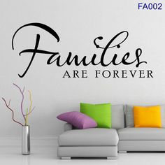 Families ARE FOREVER Vinyl Wall Art  FA002 by VictoryVinylArtFX