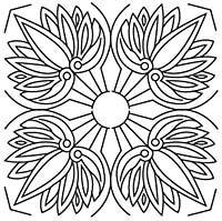 Free Quilting Stencils | Lotus Leaf