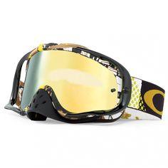 e16fd71373334 Oakley Crowbar Goggles - Mosh Pit Gold 24k Iridium Motocross Goggles