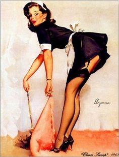Girls Pin-up Girl Postcard Gil Elvgren, 1950s Pin Up, Pin Up Pictures, Picture Company, Grand Art, Geisha Art, Pin Up Girl Vintage, Bath Art, Japanese Geisha