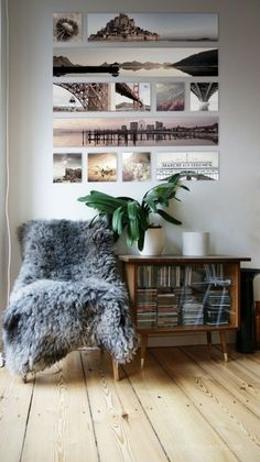 Travel wall collage from the pictures you take. Photowall Ideas, Decoration Photo, Photo Canvas, Canvas Photos, Photo Displays, Inspired Homes, My New Room, Home And Living, Living Room