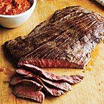 Flank Steak with Romesco Sauce Recipe   MyRecipes.com