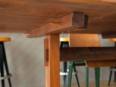 George Nakashima Trestle Dining Table with Rosewood Butterfly Joints image 8