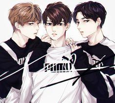 VMINKOOK BTS PUMA HIGHCUT FANART Bts Maknae Line Chibi Reactions Kpop