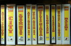 These LEGO Instruction Booklet Binders are filled with. Lego Display, Lego Duplo, Lego Instruction Books, Perler Beads, Art Hama, Lego Storage, Storage Ideas, Storage Solutions, Lego Bedroom