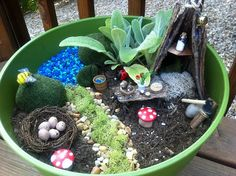 Fairy Garden in a Planter Pot