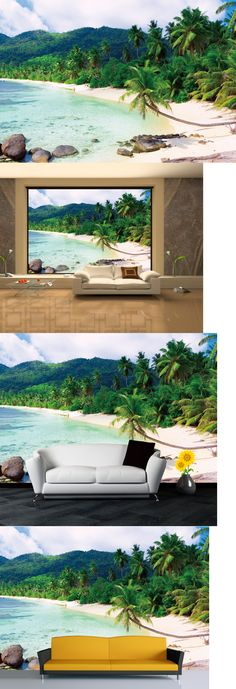 Wallpaper Murals 79626: Chois Wm4184 Landscape Wall Mural Palm Trees Beach Wallpaper Sticker 100 X 145 -> BUY IT NOW ONLY: $138.09 on eBay!