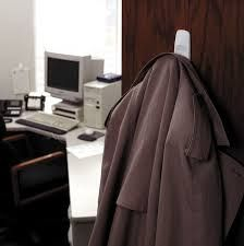 Can't find a place to hang your jacket? Hang a Command™ Large Hook on the wall or inside of a cabinet/closet door and create your own coat rack! Even better, Command™ Large Hooks can hold up to Closet Doors, Cabinet Closet, Tidy Up, Hold Ups, Coat Hooks, Office Organization, Jackets, Design, Coats