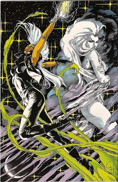 Storm by Craig Hamilton - Marvel Fanfare Back Cover Comic Book Characters, Comic Book Heroes, Comic Character, Comic Books Art, Comic Art, Comic Pics, Marvel Comics, Marvel Xmen, Marvel Heroes