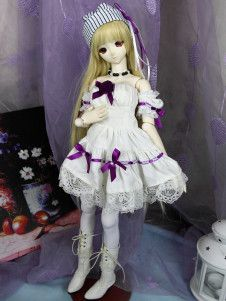 Western Style Sailor Style Cotton Fresh Dress For Ball Joint Doll