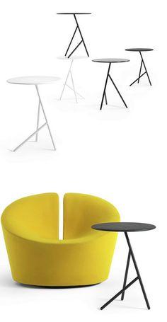 Round steel side #table PENNY by +HALLE   #design Busk + Hertzog