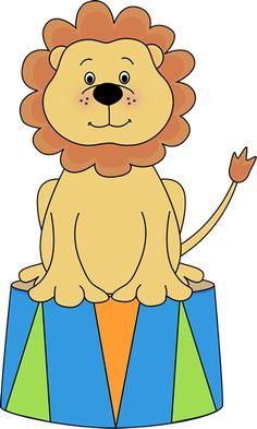 Circus Lion (free circus clip art)